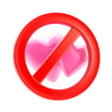 Lesbian forbidden red glossy sign isolated Stock Images