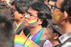 Lesbian and Gay march  in Mumbai Royalty Free Stock Images