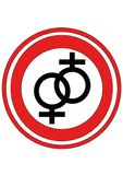 Lesbian logo. An Abstract lesbian logo for gay&lesbian bar Royalty Free Stock Image