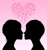 Lesbian love Stock Photos