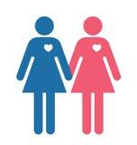 Lesbian Lovers illustration Stock Photography