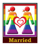 Lesbian Married Frame Royalty Free Stock Images