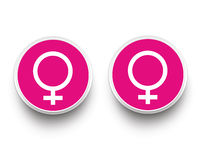Lesbian Paper Buttons Royalty Free Stock Photos
