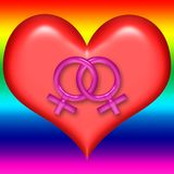 Lesbian Valentine Heart Royalty Free Stock Image