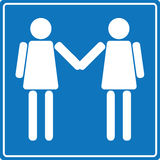 Lesbian welcome sign Royalty Free Stock Image