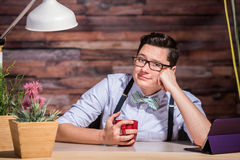 Lesbian Woman With Hand on Cheek Royalty Free Stock Images