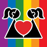 lesbian znak Obrazy Stock