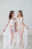 Lesbianas en lencería sexy Fotos de archivo libres de regalías
