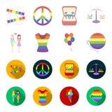 Lesbians, dress, balls, gay parade. Gay set collection icons in cartoon,flat style vector symbol stock illustration web. Lesbians, dress, balls, gay parade. Gay Royalty Free Stock Photography