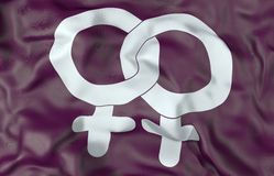 Lesbians symbol flag 3d illustration Royalty Free Stock Photos