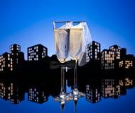 Lesbica del cocktail di Champagne della metropoli immagini stock libere da diritti