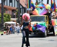 Lesbica di Long Beach e parata gaia 2012 di orgoglio Immagini Stock Libere da Diritti