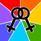 Lesbienne illustration de vecteur