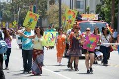 Lesbienne de Long Beach et fierté homosexuelle Photographie stock