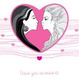 Lesbiennes interracial font l'amour