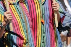 Lesbiennes à la fierté homosexuelle Images stock