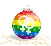 Lesbijska Bożenarodzeniowa piłka Obraz Royalty Free