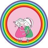 Lesbisch pictogram Royalty-vrije Stock Afbeelding