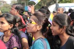 Lesbische en Vrolijke parade in Mumbai Stock Fotografie
