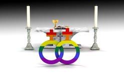 Lesbische Heirat Stockbild
