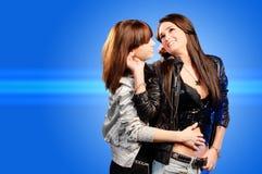 Lesbische meisjes Royalty-vrije Stock Fotografie