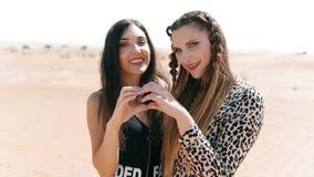 Lesbisches glückliches Paar der schönen jungen Europäerfrauen Lesbisches Konzept LGBT stock footage