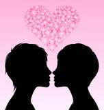 lesbisk förälskelse Arkivfoton
