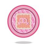 Lesbisk symbol för förälskelseteckenkorg Royaltyfria Bilder