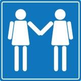 lesbisk teckenvälkomnande Royaltyfri Bild