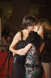 Lesbo Kiss, Valeria Solarino and Isabella Ragonese Royalty Free Stock Images