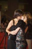 Lesbo Kiss, Valeria Solarino and Isabella Ragonese Royalty Free Stock Images