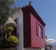 Lesbos färbte Haus Stockbilder