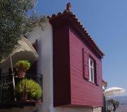 Lesbos gekleurd huis Stock Afbeeldingen