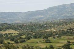 Lesbos, Lesvos. Heuvels op Lesbos; Hills on Lesvos stock photo