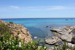 L´Escalet Beach on the French Riviera Royalty Free Stock Images