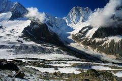 Leschaux Glacier Royalty Free Stock Photography