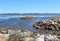 Leschenault Mündung Bunbury WestAust lizenzfreies stockfoto