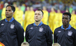 Lescott, Terry and Welbeck of England Stock Image