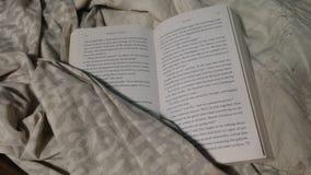 Lesen im Bett Stockbilder