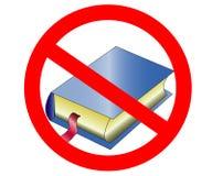 Lesen Sie nicht Symbol des offenen Buches Runde metallische Kn?pfe Rotes Verbotszeichen vektor abbildung