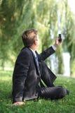 Lesen sms Lizenzfreie Stockfotos