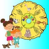Leser f?r Kindergarten, Bilder basiert auf den M?rchen ?ber Barmalee stockfoto