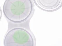 Leses verdes del contacto Imagen de archivo libre de regalías