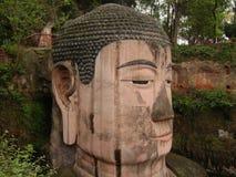 Leshan ο γιγαντιαίος Βούδας σε Leshan, Δημοκρατία λαών της Κίνας Στοκ Φωτογραφίες