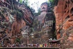 Leshan ο γιγαντιαίος Βούδας σε Leshan, Sichuan επαρχία στην Κίνα στοκ φωτογραφία με δικαίωμα ελεύθερης χρήσης