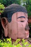 Leshan, Κίνα: Ο αρχαίος Βούδας Στοκ Εικόνες