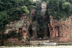 Leshan Buda de oro Imagen de archivo libre de regalías