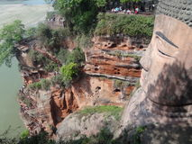 Leshan Buddha. The Leshan Giant Buddha. The Buddha is located in Leshan City, Sichuan Province, the Buddha was included by UNESCO on the list of the World Stock Photo