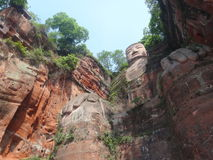 Leshan Buddha. The Leshan Giant Buddha. The Buddha is located in Leshan City, Sichuan Province, the Buddha was included by UNESCO on the list of the World Royalty Free Stock Photo