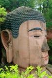 Leshan, China: Riesiges Buddha-Gesicht Lizenzfreie Stockfotos